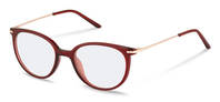 Rodenstock-Korrektionsfassung-R5312-dark red, rose gold