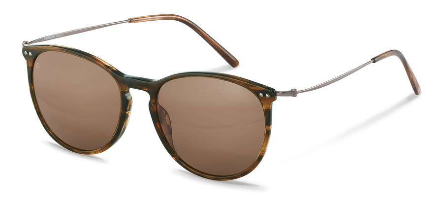 Rodenstock-Monture de correction-R3312-brownstructured/gunmetal